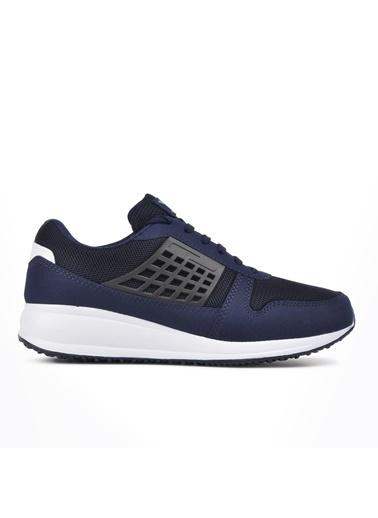 Walkway Lagos Siyah-Beyaz Fileli Erkek Spor Ayakkabı Lacivert